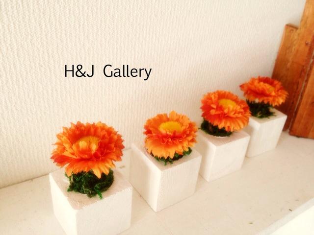☆小さな植木鉢*ピンポンマム オレンジ