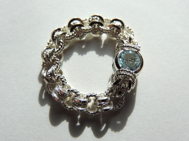 『 Airy blue ( tender ) 』Ring by SV925