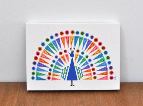 ファブリックパネル「peacock」