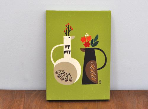 ファブリックパネル「Vase of bird」