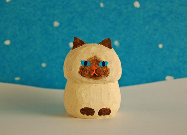木彫り人形 ねこ ポイント種1 [MWF-...