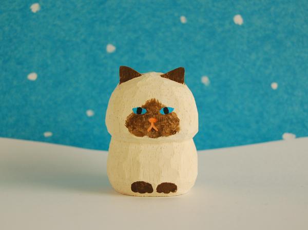木彫り人形 ねこ ポイント種2 [MWF-2...