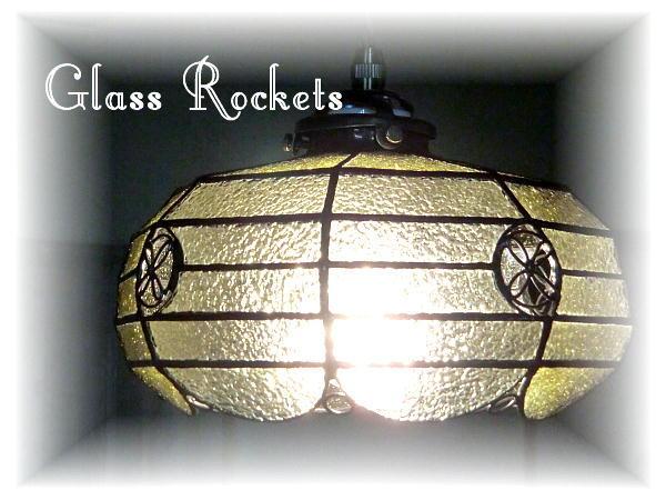 ステンドグラス ペンダントランプ「和洋折衷」 照明 和風 再販