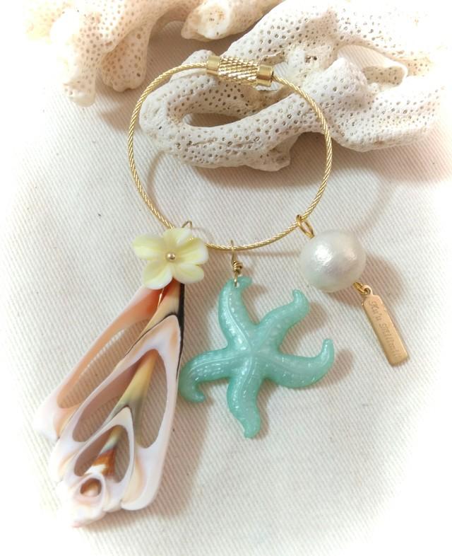 Vintage Starfishキーホルダー(Mint)