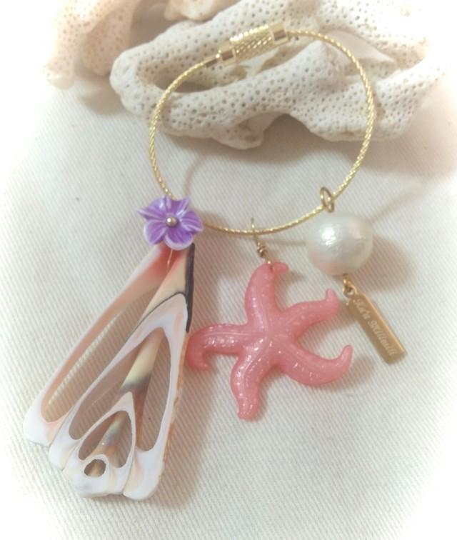 Vintage Starfishキーホルダー(Pink)