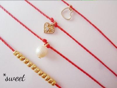 【選べる】華奢なcord bracelet***?
