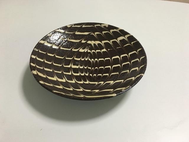 14~15cm スリップウェア 皿(波紋)