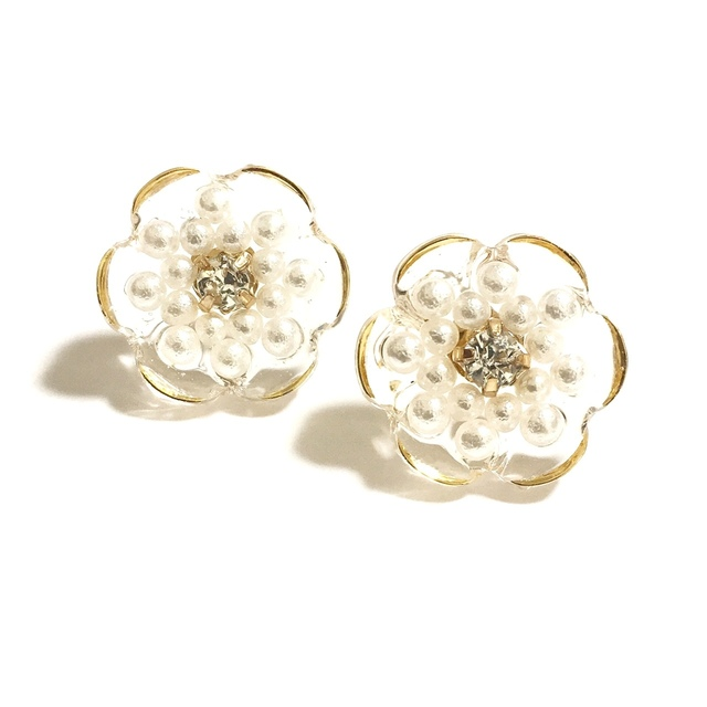 【送料無料】gold flower bijou pierce...