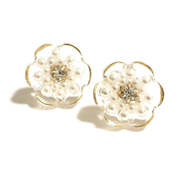 【送料無料】gold flower bijou pierce...
