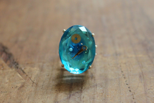 SORRY --SOLD OUT-- 購買部180:シリウス金剛石の指輪/水碧色(楕円) 2