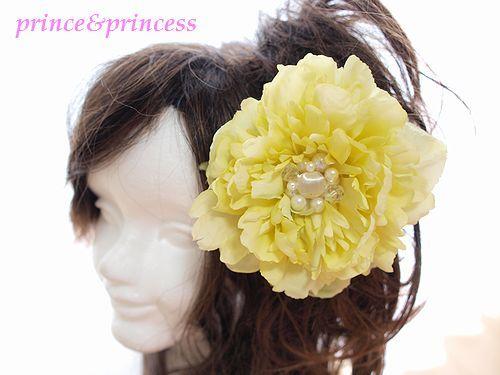 黄色のピオニー*成人式用飾り*c