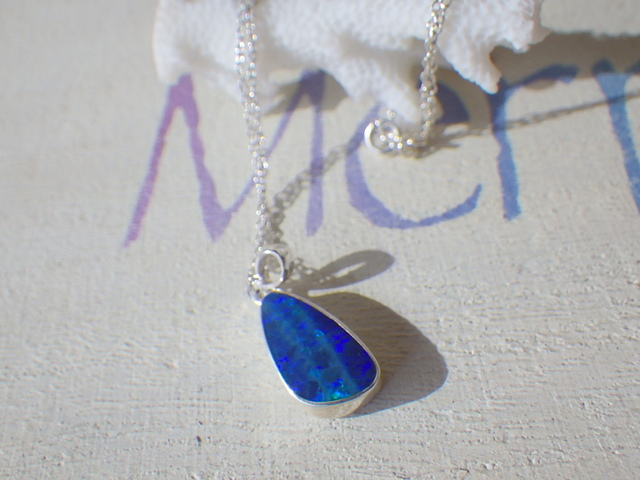 Grand Blue Opal Necklace *Sv925