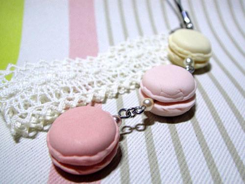 macaron strap -pink-