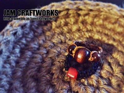 ビーズの平編みリング2本セット