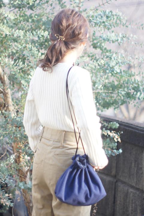 ★限定★woolの巾着ショルダーバッグ(...