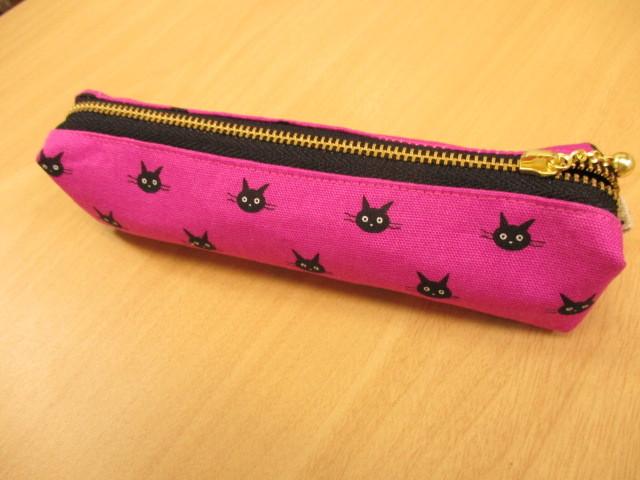 黒猫のペンケース (スリムタイプ)