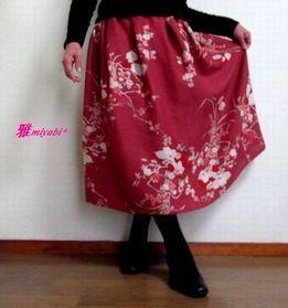 裏付ローズピンク和柄絹アンティーク着...