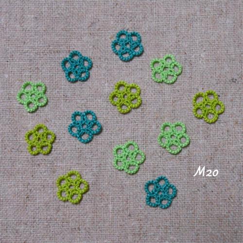 タティングレース小花のモチーフ(6-M20)