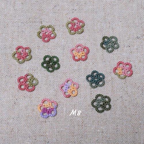 タティングレース小花のモチーフ6-M8