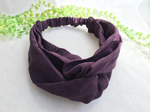 クロスなヘアバンド(紫)