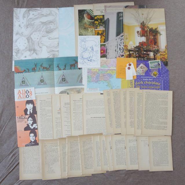 古書のページを中心に紙の詰め合わせ 18