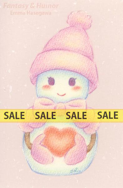 【お値下げ】ラブリー雪だるまちゃん・薄紫(150122)