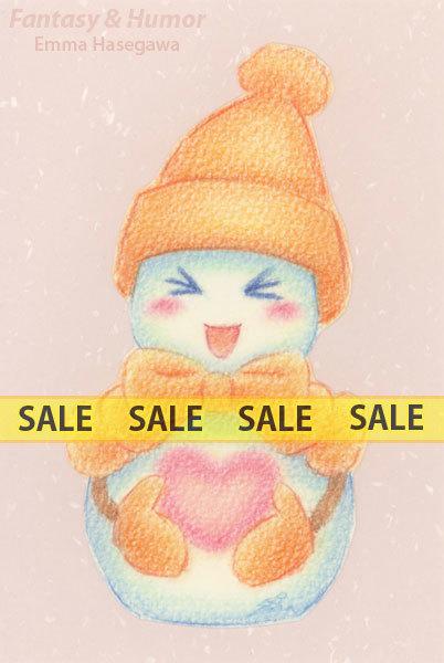 【お値下げ】ラブリー雪だるまちゃん・オレンジ(150121)