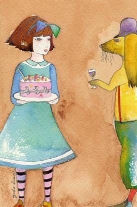 原画 アリスのケーキ