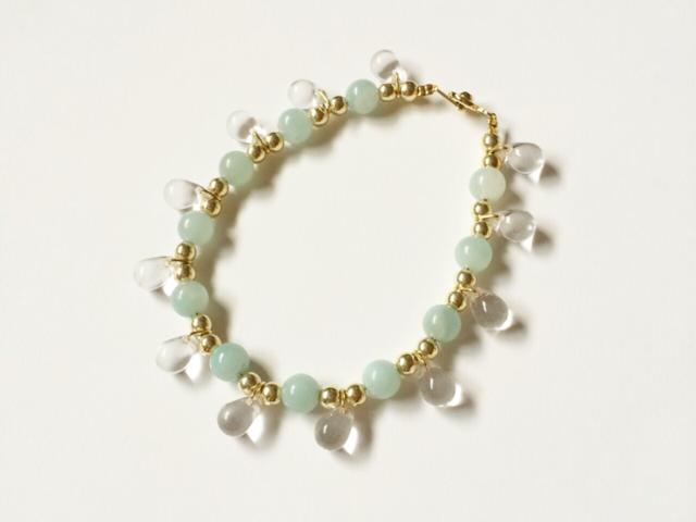 drop bracelet (amazonite)