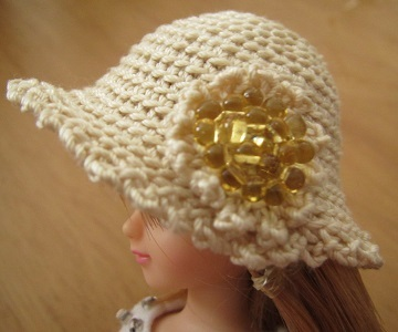 【帽コレ】ストローハット風ドール用のお帽子【夏祭り♪】
