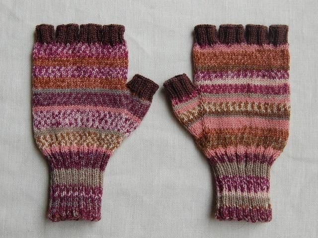 手編み指なし手袋 No.1