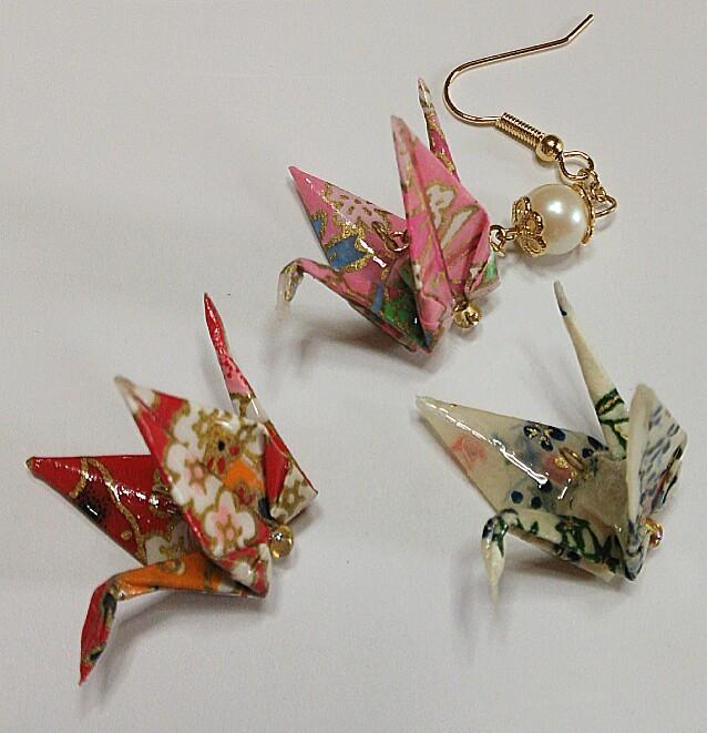 ハート 折り紙:折り紙 和柄-minne.com