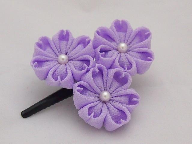 3輪薄紫系 ヘアピン