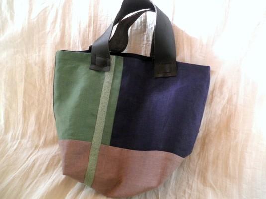 itoiro bag (mintgreen&navy)
