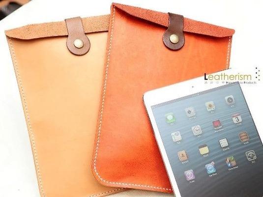 手縫い2色選び本革「丸々」iPad Miniケース