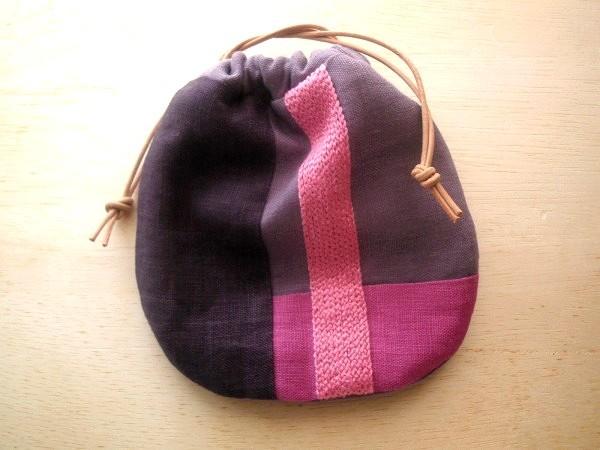 itoiro 巾着ポーチ (紫)