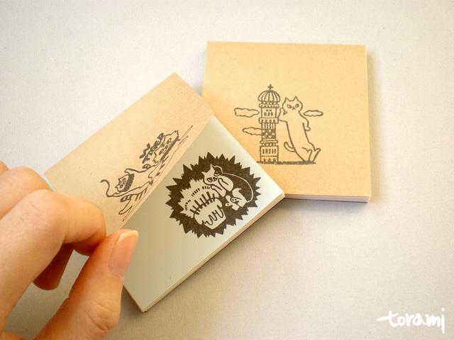 四角い猫メモ帳