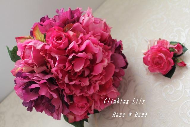 現品 ウェディングブーケ 芍薬とバラ