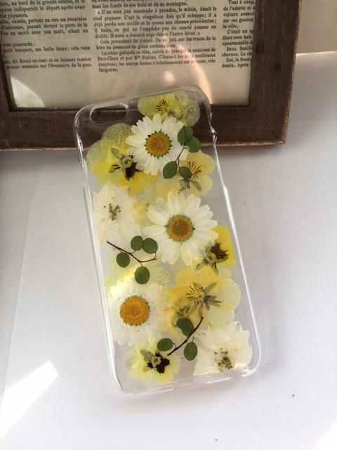iphone6/6S ビオラの押し花ケース