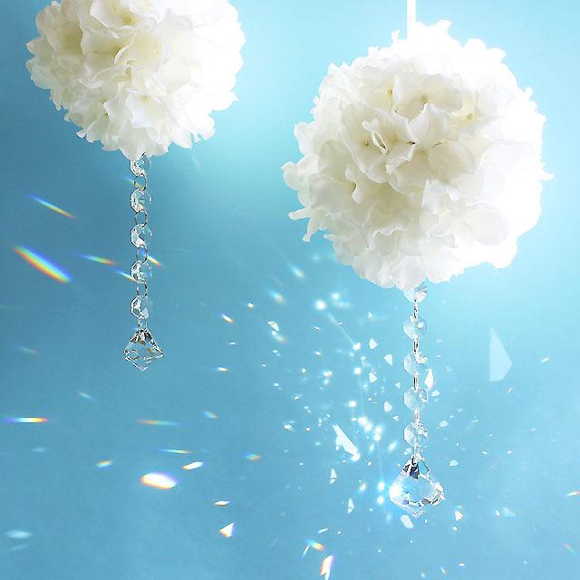 M・ホワイトの紫陽花フラワーボール + ...