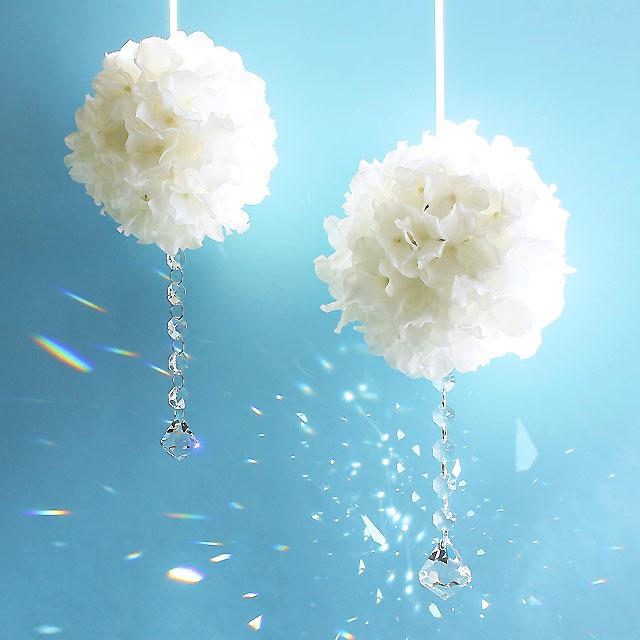 S・ホワイトの紫陽花フラワーボール + ...