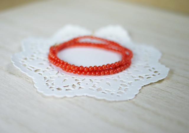 (Sold out)[K14gf]サルデーニャ産本珊瑚のネックレス