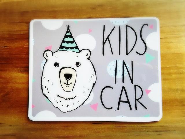 しろくま kIDS IN CAR キッズインカーマ...