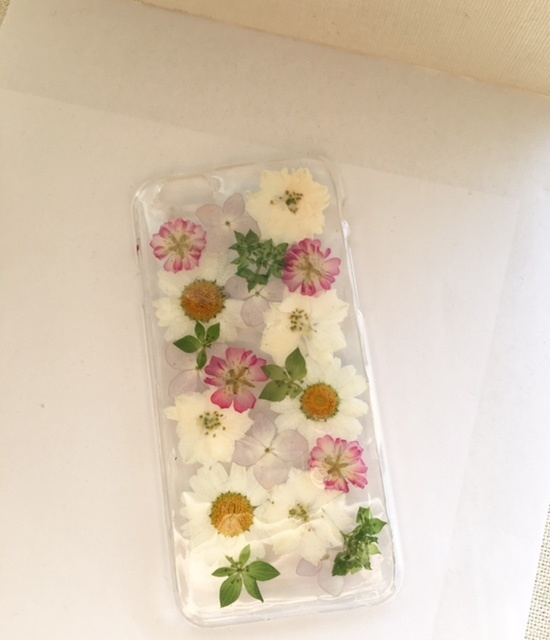 iphone6/6S 薔薇の押し花ケース