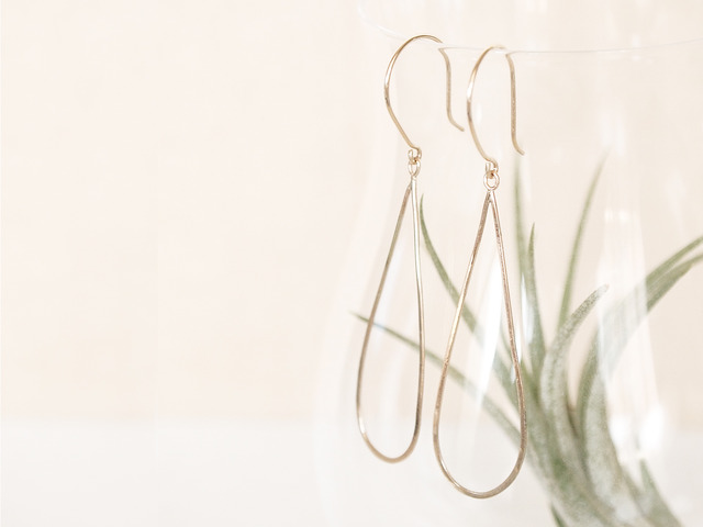 K10 Drop Shape Earrings