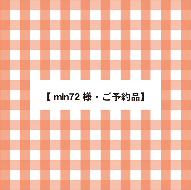 【 min72 様・ご予約品】