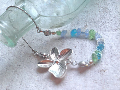 Seashore Mermaid Bracelet with Orchid