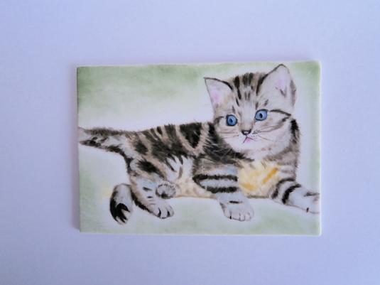 子猫の陶板