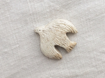 bird brooch (白)01