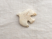 bird brooch (白)02